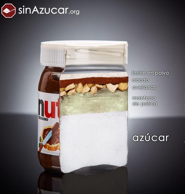 58% da Nutella é açúcar (Foto: Sin Azucar/ Reprodução)