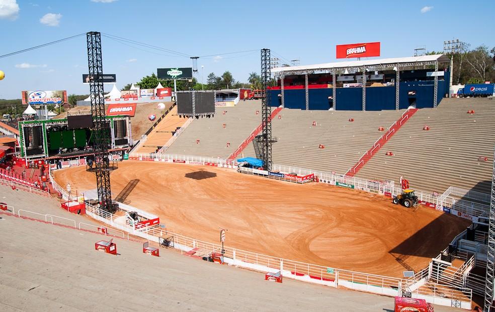 Estádio em Barretos é o maior recinto de rodeios do país e um dos maiores do mundo  (Foto: Érico Andrade/ G1)