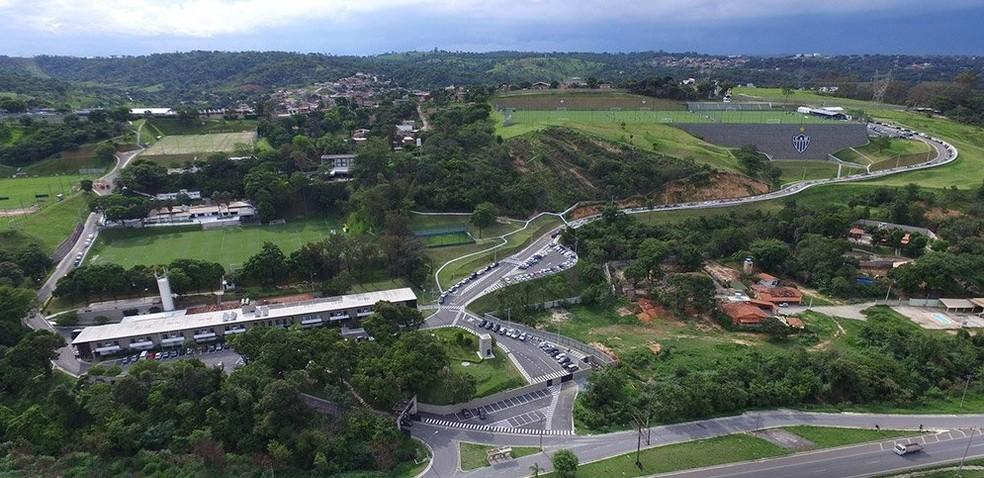 Vista aérea da Cidade do Galo; Atlético-MG — Foto: Twitter/ Atlético-MG