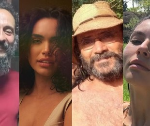Irandhir Santos, Giovana Cordeiro, Almir Sater e Alanis Guillen já estão caracterizados para a novela gravada no Mato Grosso do Sul   Reprodução/Instagram
