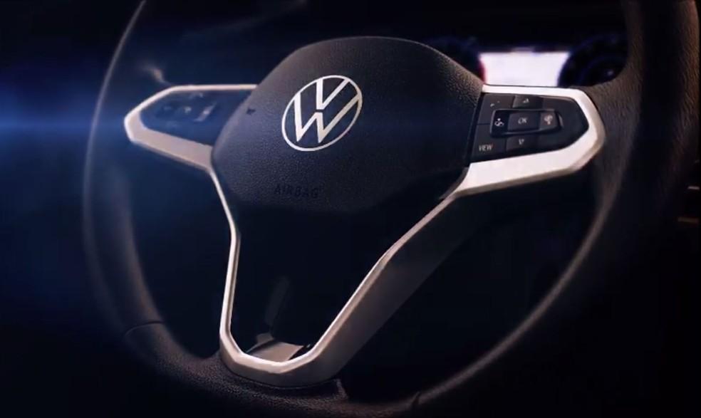 Volante do Volkswagen Nivus — Foto: Reprodução