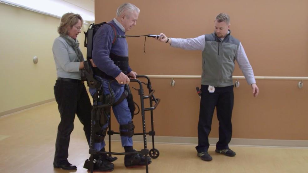 Exoesqueleto: exemplo de robótica utilizada no campo da reabilitação (Foto: Divulgação)