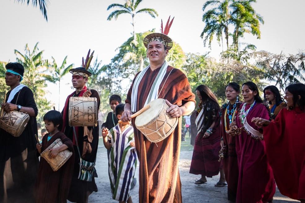 Francisco Piyãko é um dos líderes do povo Ashaninka em Marechal Thaumaturgo — Foto: Arisom Jardim/Associação Apiwtxa