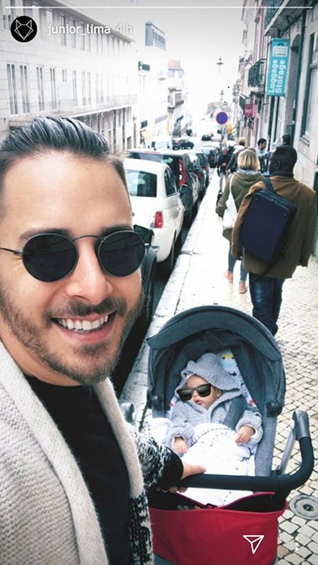 Junior Lima e o filho, Otto (Foto: Reprodução/Instagram)