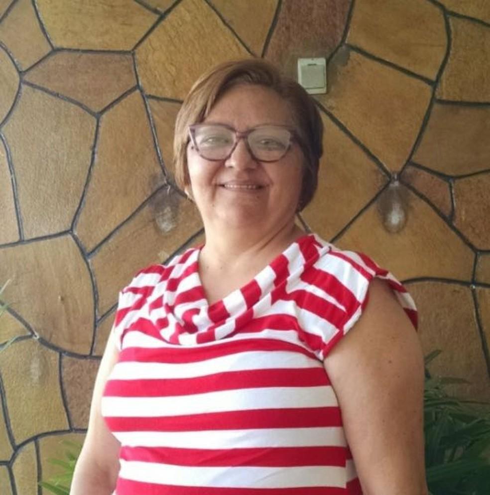 Gilvaneide Pereira, de 56 anos, foi encontrada morta dentro de casa, em Mossoró  (Foto: Divulgação/PM)