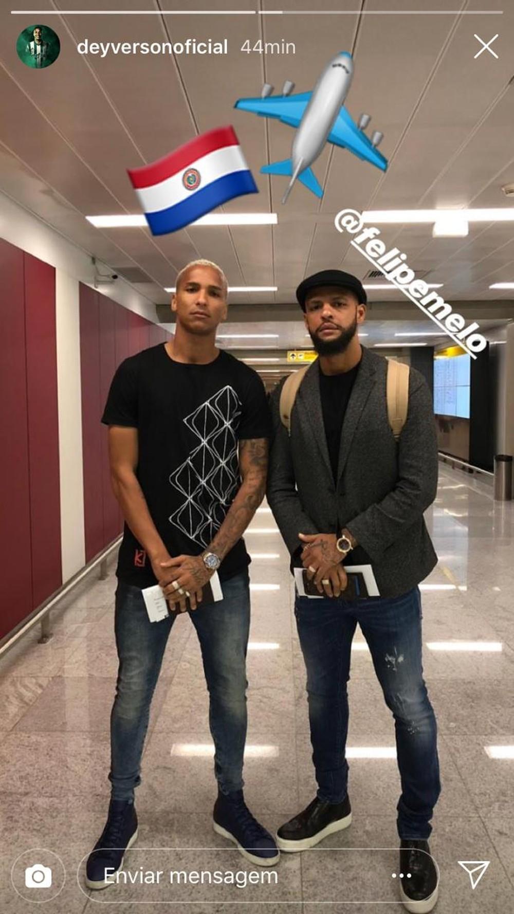 Conmebol anuncia punição de Deyverson e Felipe Melo