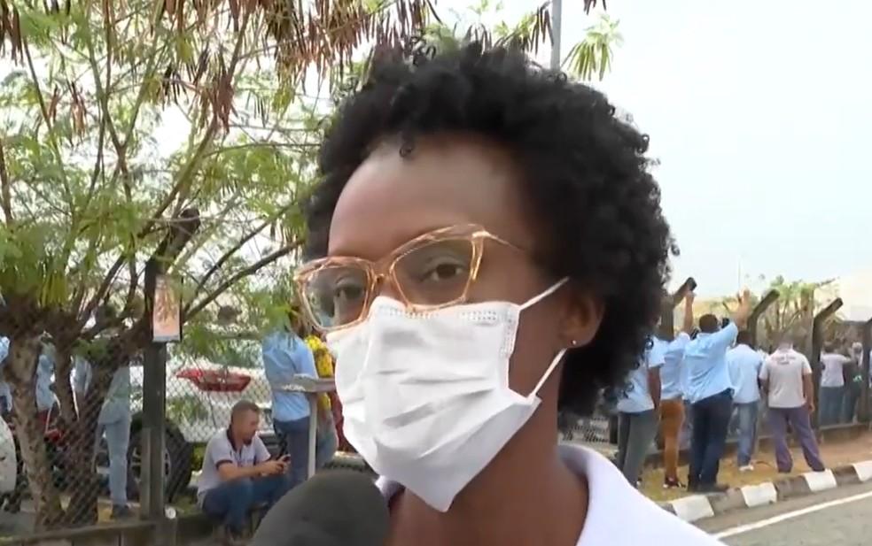 Para Cíntia Anjos, encerramento das atividades é triste — Foto: Reprodução/TV Bahia