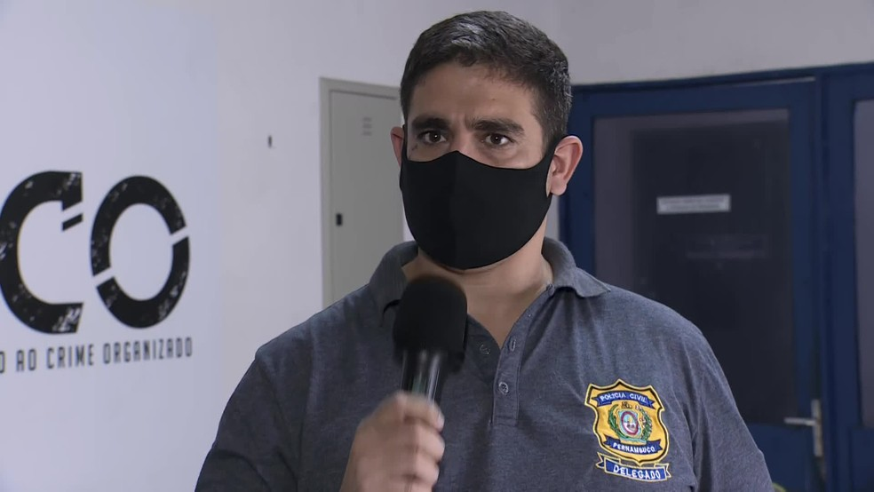 O delegado Rodolfo Bacelar é o titular da 3ª Delegacia de Combate à Corrupção — Foto: Reprodução/TV Globo