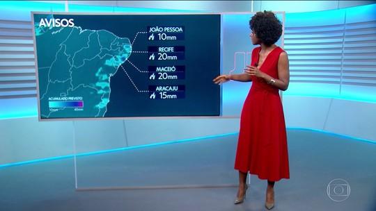 Previsão de mais chuva para as capitais do Nordeste no último fim de semana de julho