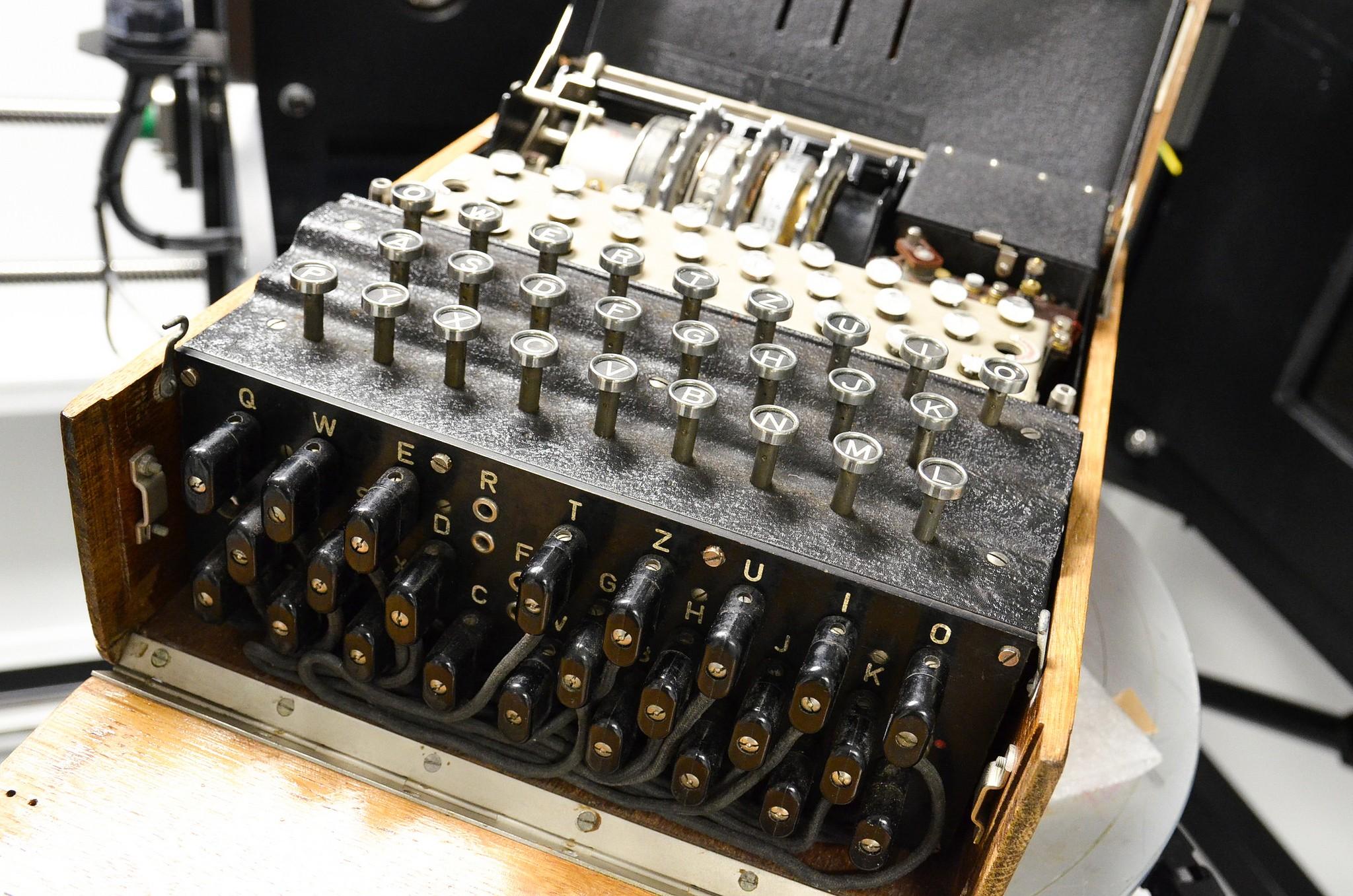A máquina nazista de codificação Enigma (Foto: Divulgação/ Universidade de Manchester )