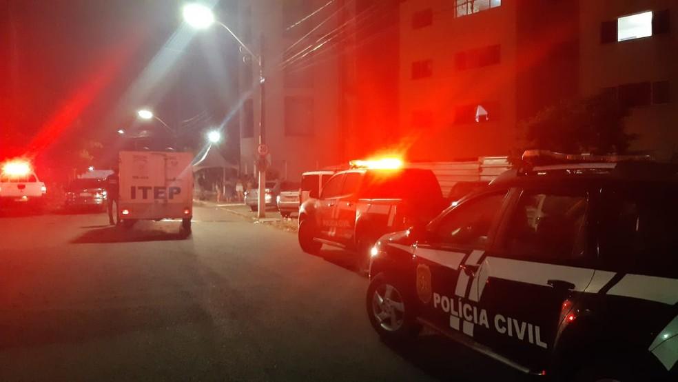 Crime em residencial na Zona Leste de Natal é investigado pela Polícia Civil — Foto: Sérgio Henrique Santos/Inter TV Cabugi