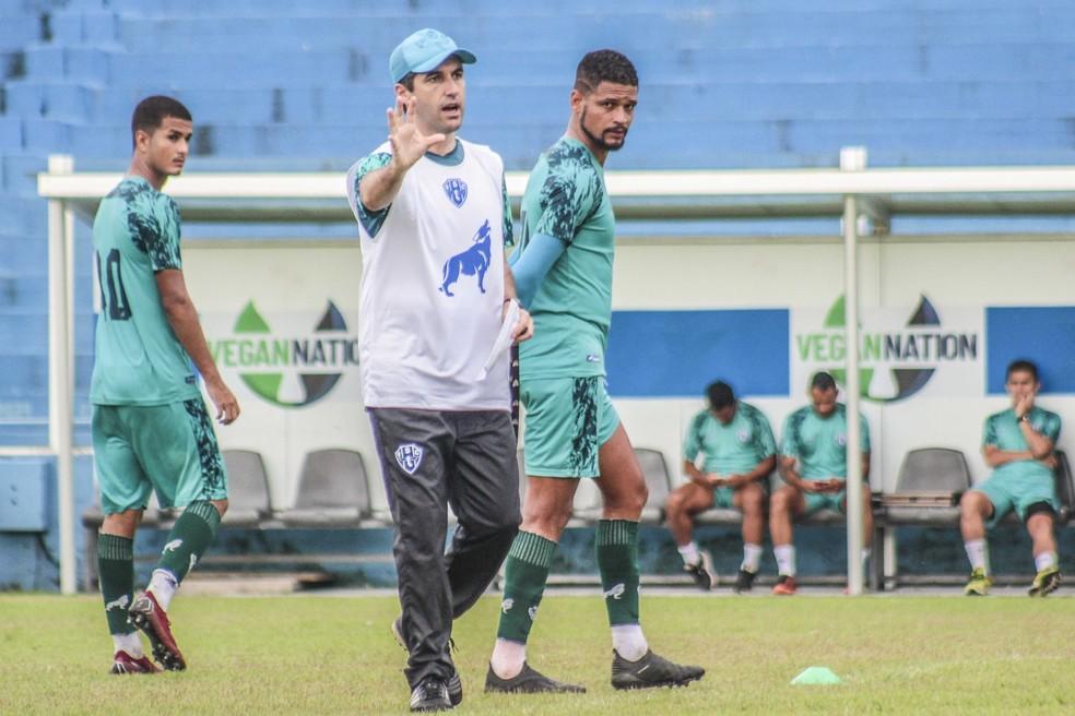 Condé não adiantou a escalação do time durante a semana — Foto: Jorge Luiz/Ascom Paysandu