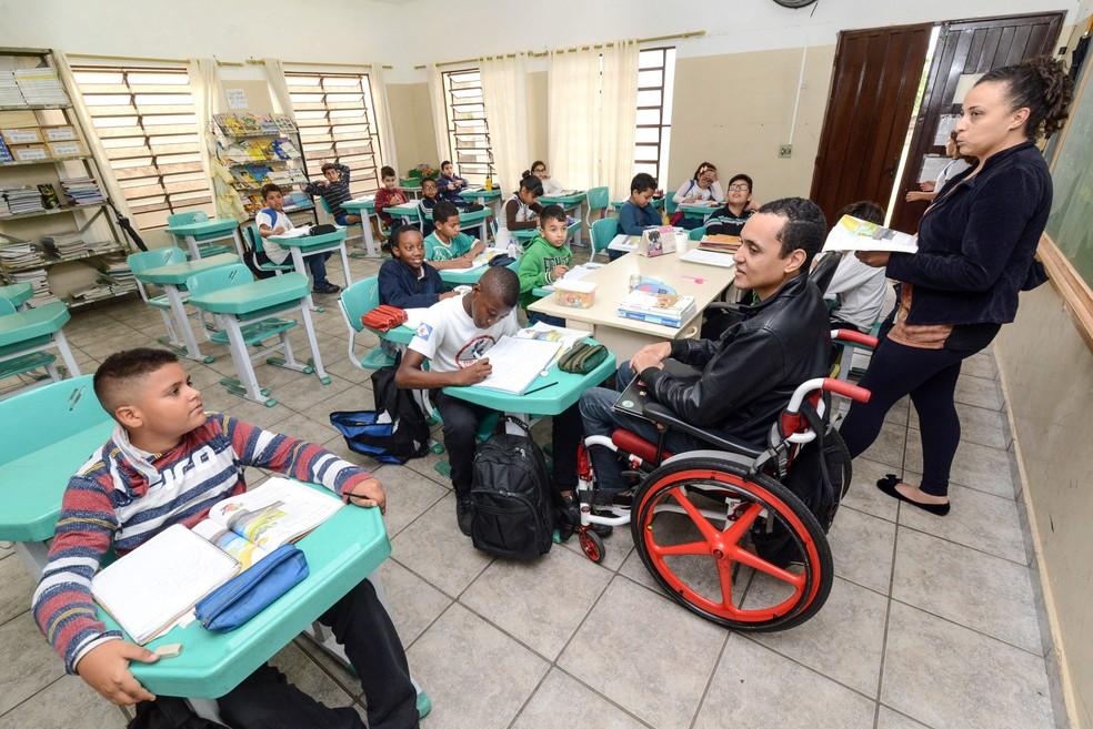 Primeiro dia de aula foi marcante, disse professor (Foto: Prefeitura de Rio Claro/Divulgação)