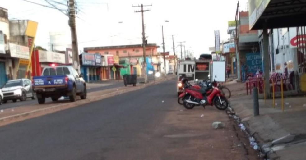 Crime foi registrado no setor Entroncamento — Foto: Divulgação