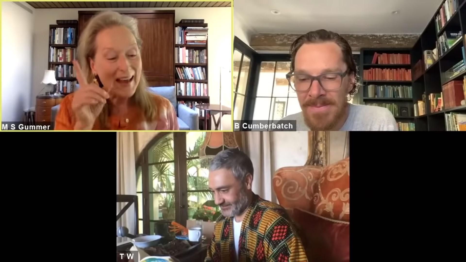 Meryl Streep e Benedict Cumberbatch leem livro online para iniciativa de caridade