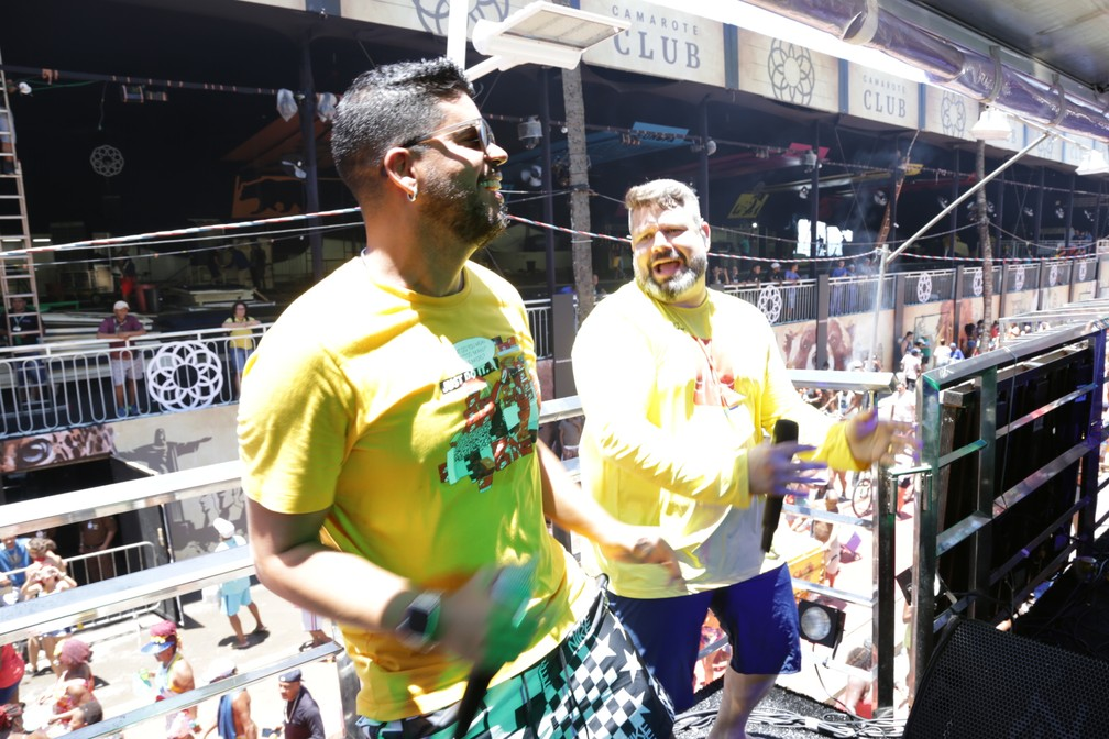 Daniel Vieira e Rafique, Arrastão de Quarta de Cinzas 2020 em Salvador — Foto: Foto: Jailton Suzart/Ag Haack