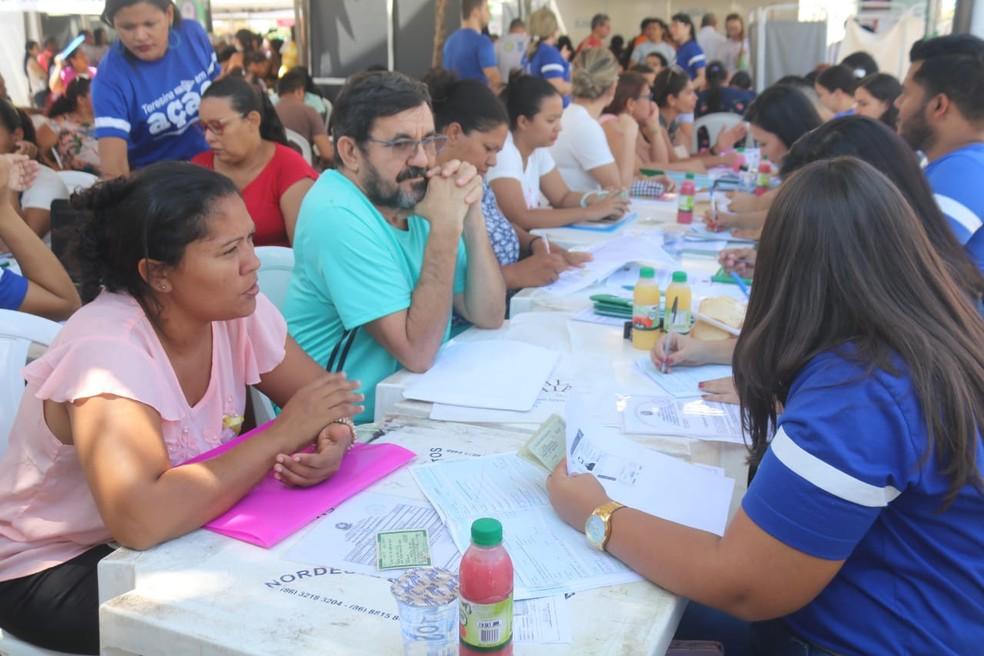 Cras ofereceu registro do Cadastro Único — Foto: Lorena Linhares/G1 PI