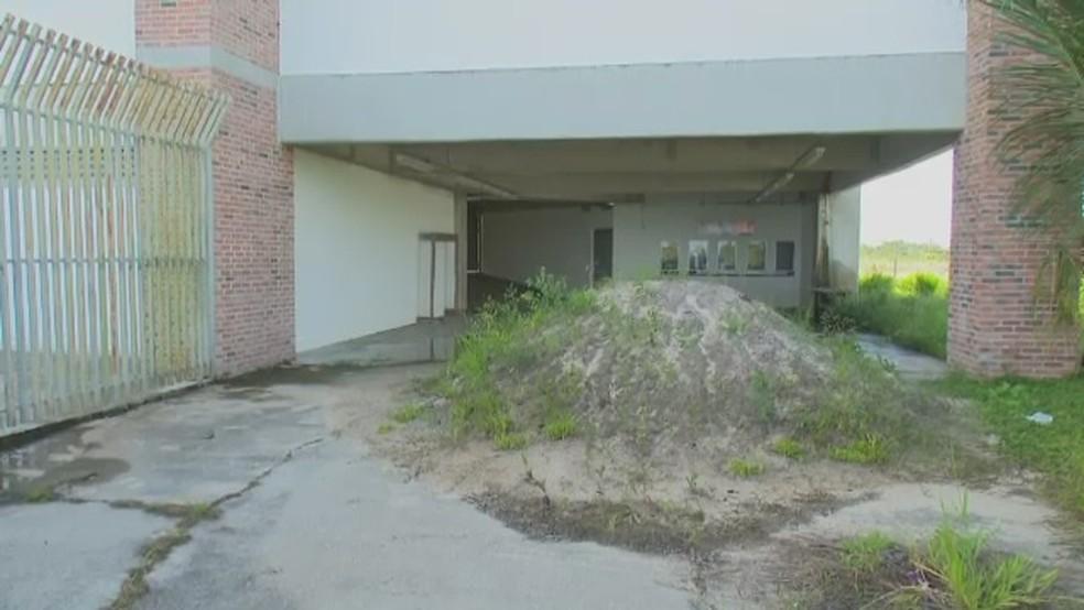 Área de acesso às bilheterias da Arena do Juruá (Foto: Reprodução/Rede Amazônica Acre)