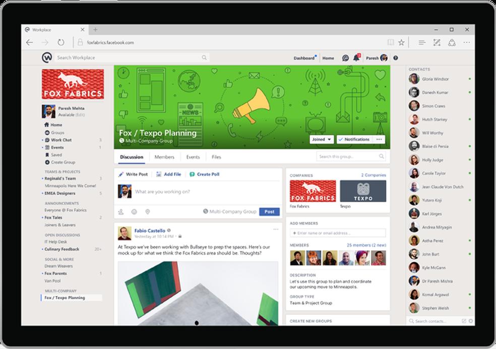 Workplace Chat Facebook Lança App Desktop Para Ambiente De Trabalho Downloads Techtudo