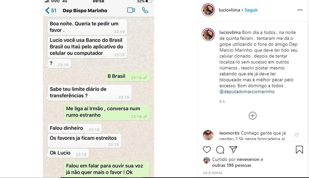 Lúcio Vieira Lima revela ter sofrido tentativa de golpe após deputado Márcio Marinho ter app de mensagens clonado