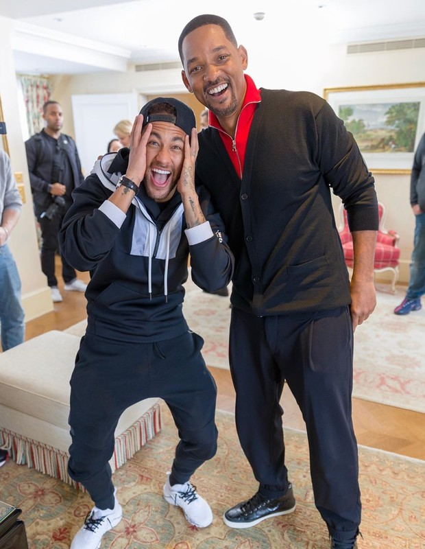 Neymar e Will Smith (Foto: Reprodução Instagram)