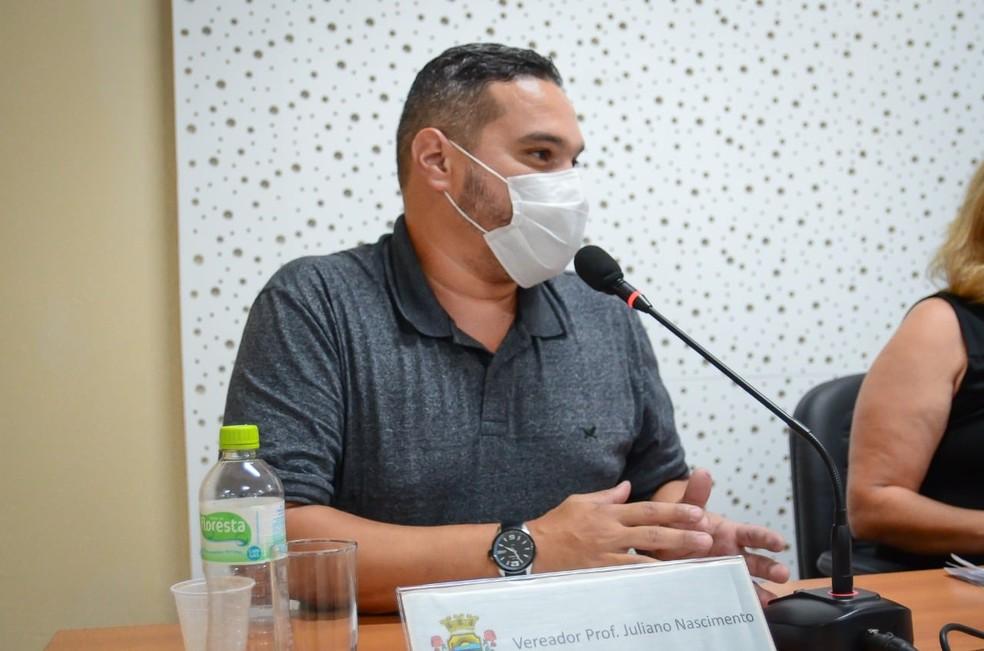 Vereador de Alvorada, Juliano Nascimento morreu após contrair a Covid-19 — Foto: Câmara de Vereadores de Alvorada/Divulgação