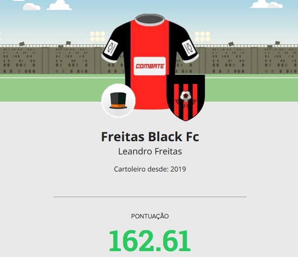 Freitas Black mita na rodada #15 do Cartola — Foto: Reprodução