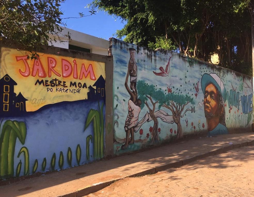 Grafite Mestre Moa — Foto: Valma Silva / G1 BA