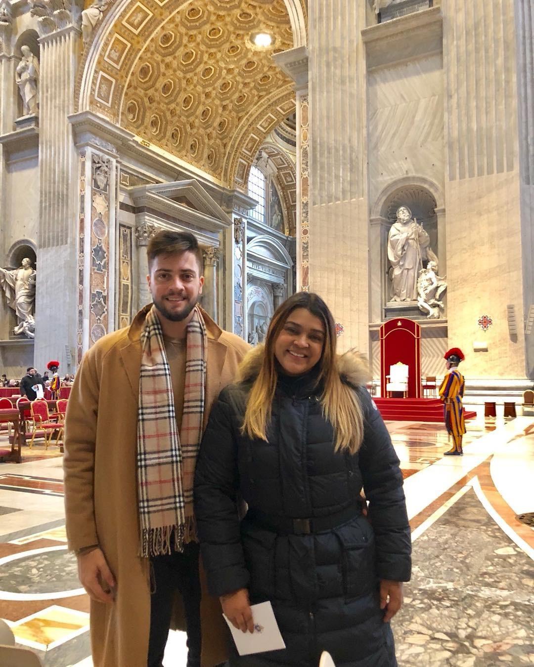 Rodrigo e Preta Gil no Vaticano (Foto: Reprodução/Instagram)