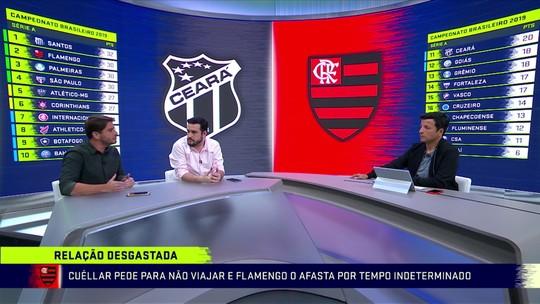 Torcedores se reúnem para apoiar Flamengo antes de viagem; Cuéllar é liberado de treino