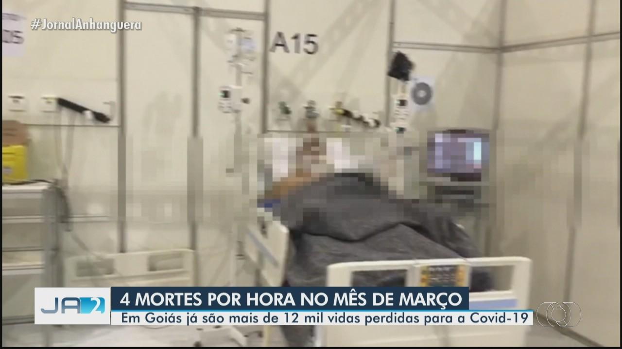 Goiás registra mais de 12 mil vidas perdidas para a Covid-19