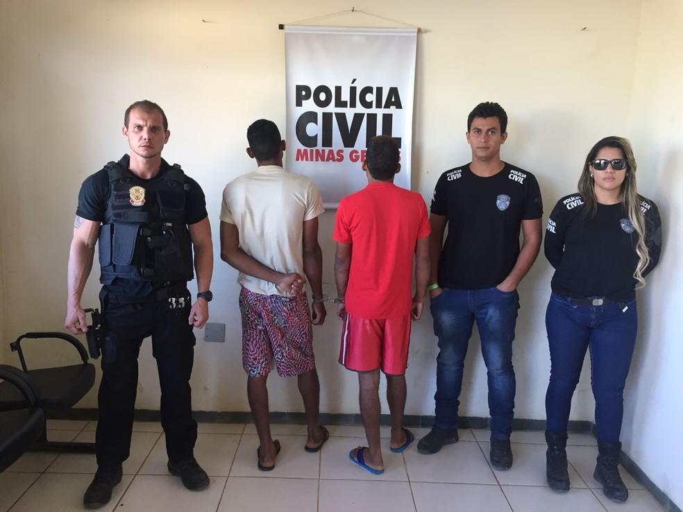 Presos confirmaram participação no assalto em Jaíba (Foto: Polícia Civil/Divulgação)