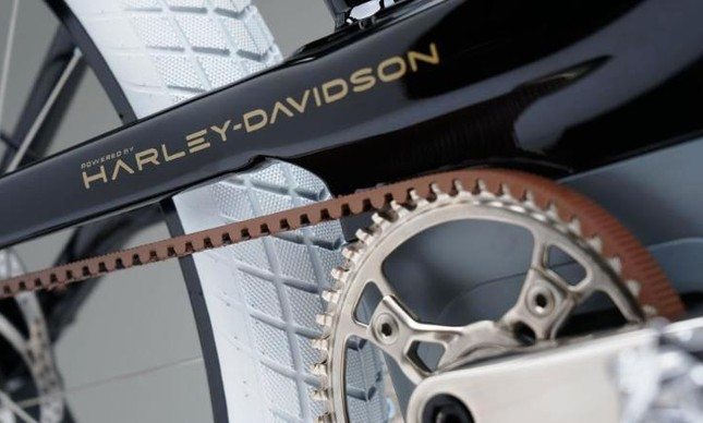 Detalhe da corrente da bicicleta Harley-Davidson Serial 1