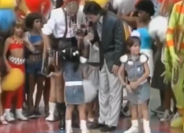 Cleo Pires no Xou da Xuxa com o pai  (Foto: Reprodução)
