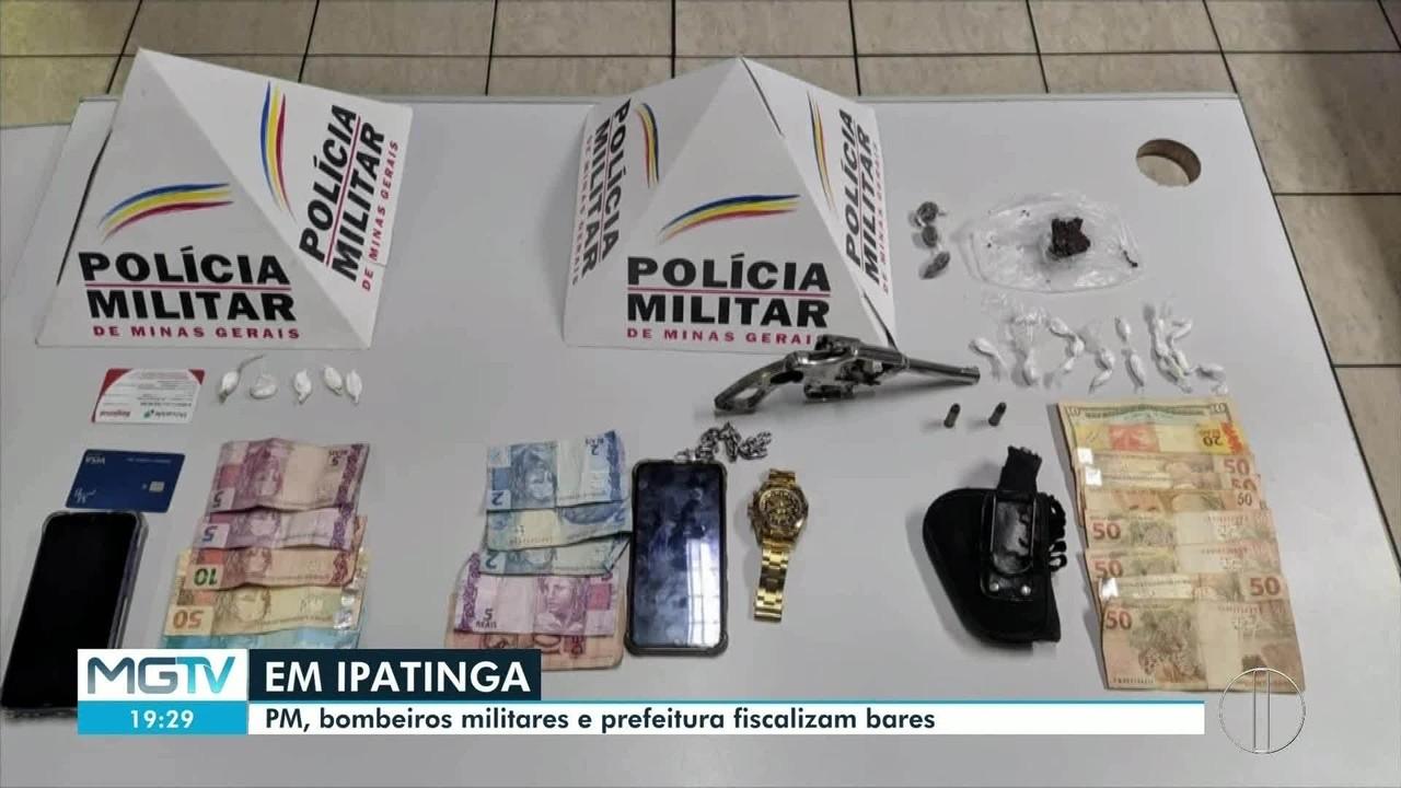 Nove pessoas são detidas em fiscalização de bares em Ipatinga