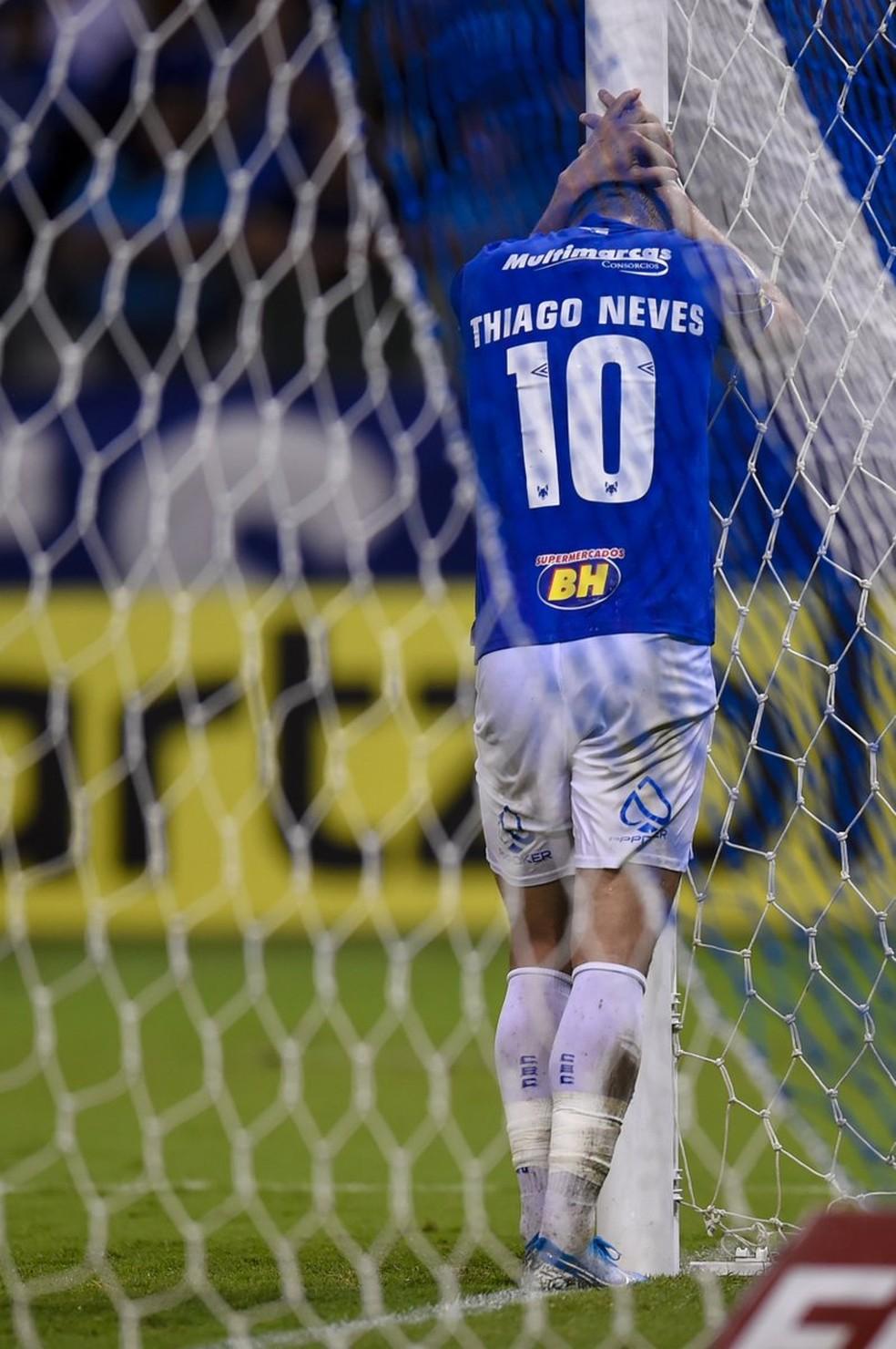 Thiago Neves fez 41 jogos pelo Cruzeiro na atual temporada — Foto: Twitter/Mineirão