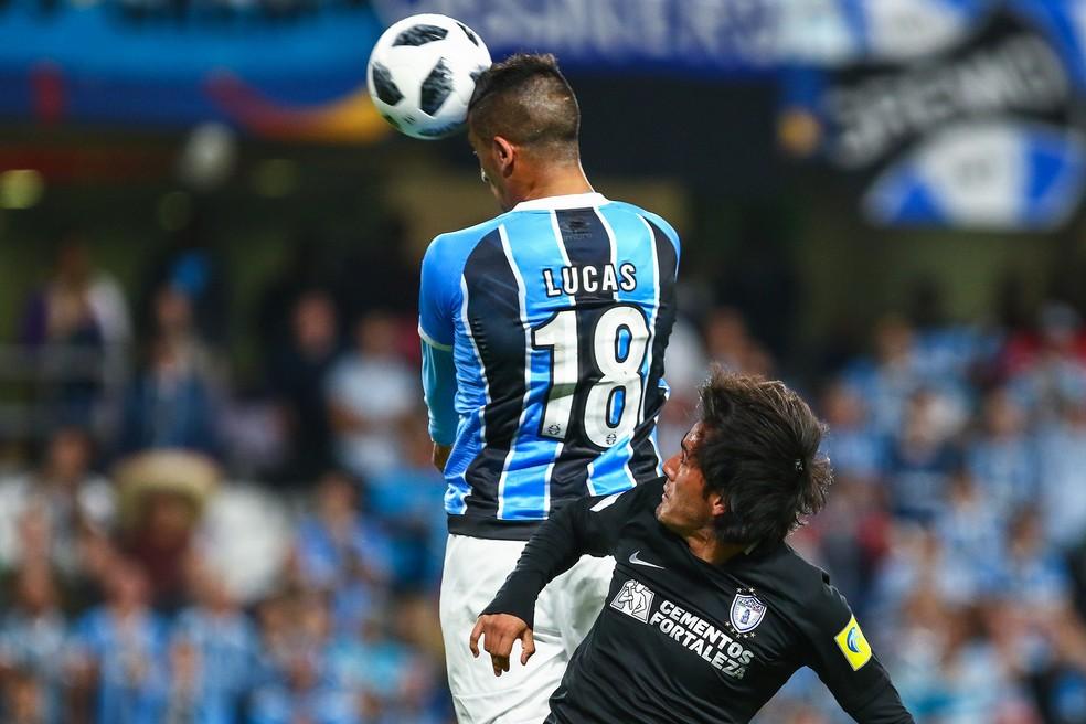 Barrios Grêmio x Pachuca — Foto: Lucas Uebel/Divulgação Grêmio