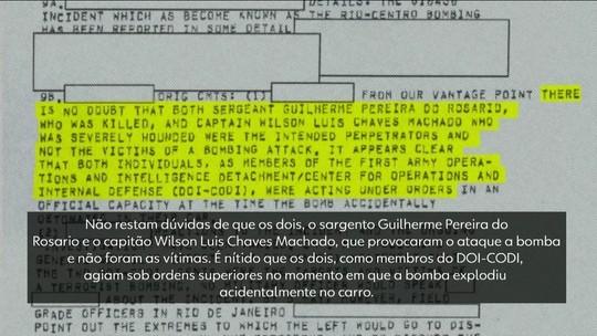 Documento da inteligência americana aponta participação de militares no atentado no Riocentro