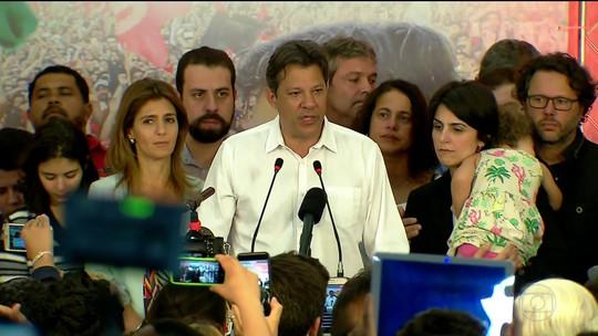 No Twitter, Haddad deseja sucesso a Bolsonaro; presidente eleito agradece