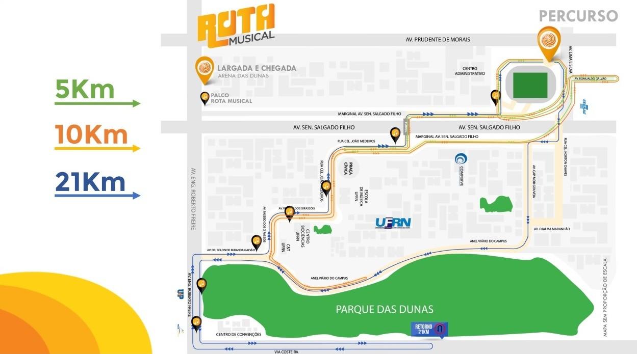 Meia Maratona do Sol provoca mudanças no trânsito de Natal neste sábado (18); veja vias interditadas