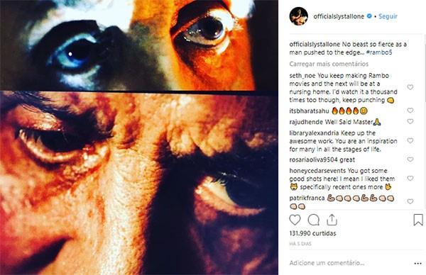 Sylvester Stallone em Rambo 5 (Foto: Instagram)