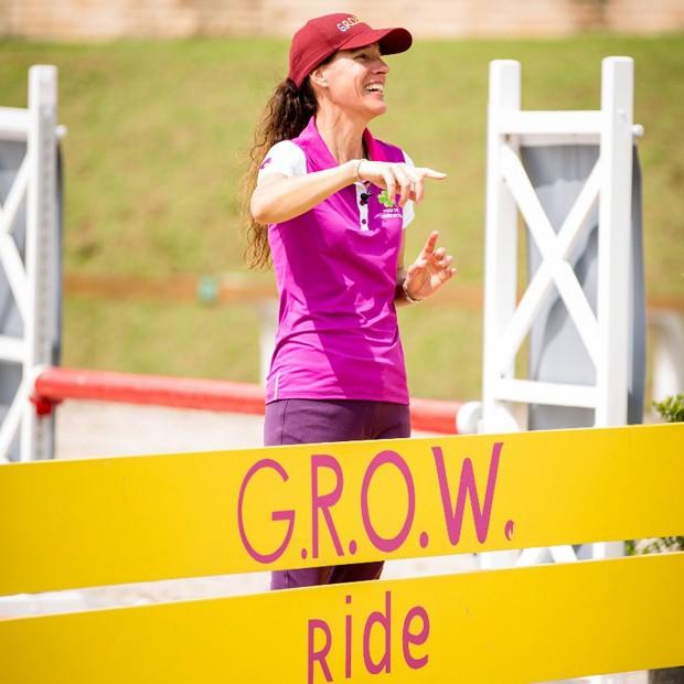 Luciana Diniz no G.R.O.W. Ride Brasil (Foto: Foto: Gabriela Lutz / Divulgação)