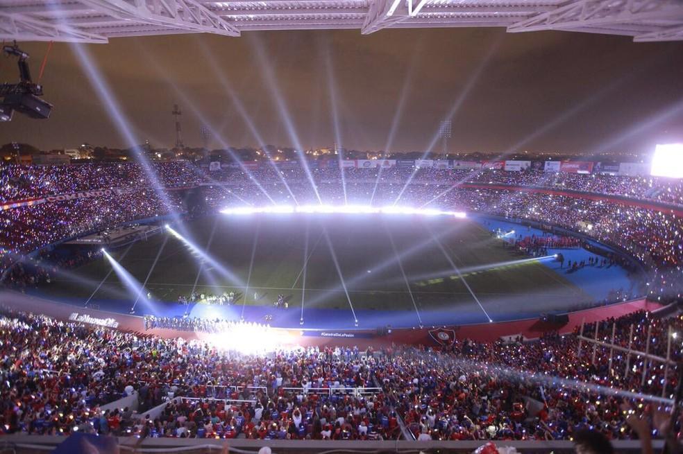 Inauguração recente do estádio Nueva Olla, do Cerro Porteño: capacidade para 45 mil, em Assunção, capital do Paraguai (Foto: Divulgação/Cerro Porteño)