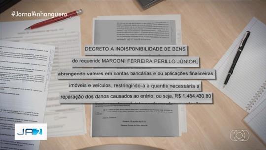 Marconi Perillo tem bens bloqueados em quase R$ 1,5 milhão em ação do MP