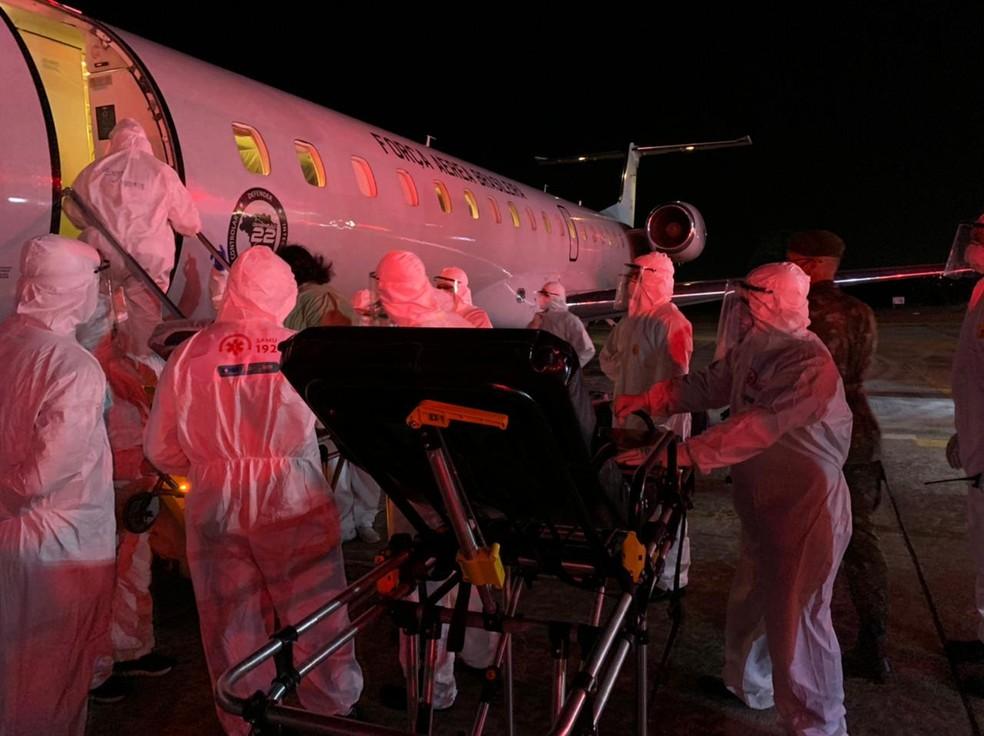 Segundo avião com pacientes de Manaus desembarcou no Aeroporto de Campina Grande dois dias atrás — Foto: Ana Paula de Araújo/Codecom/PMCG