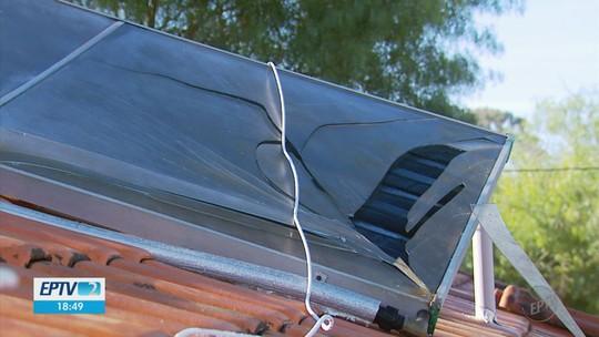 Frio queima placas de aquecedores solares e moradores ficam sem água quente