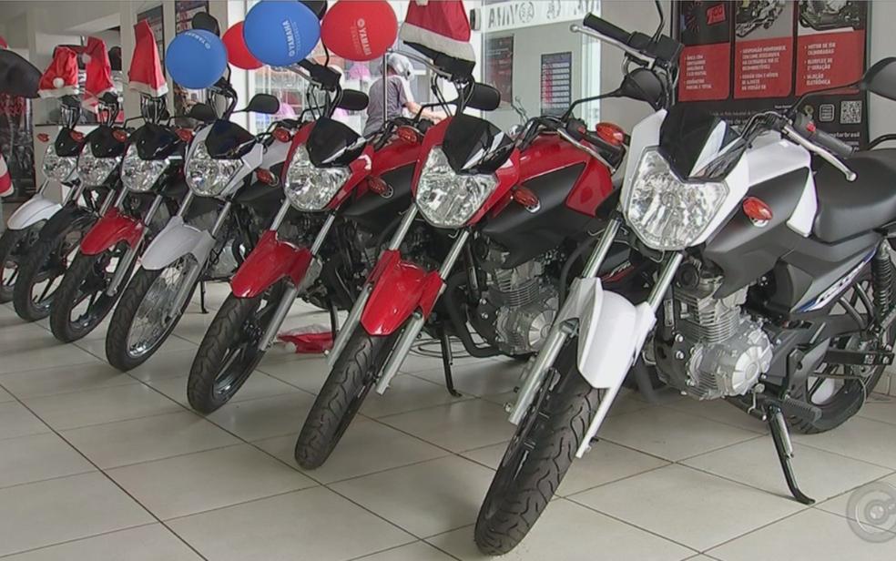 -  Motos foram os veículos mais vendidos nas concessionárias do Pará em março.  Foto: Reprodução/TV TEM