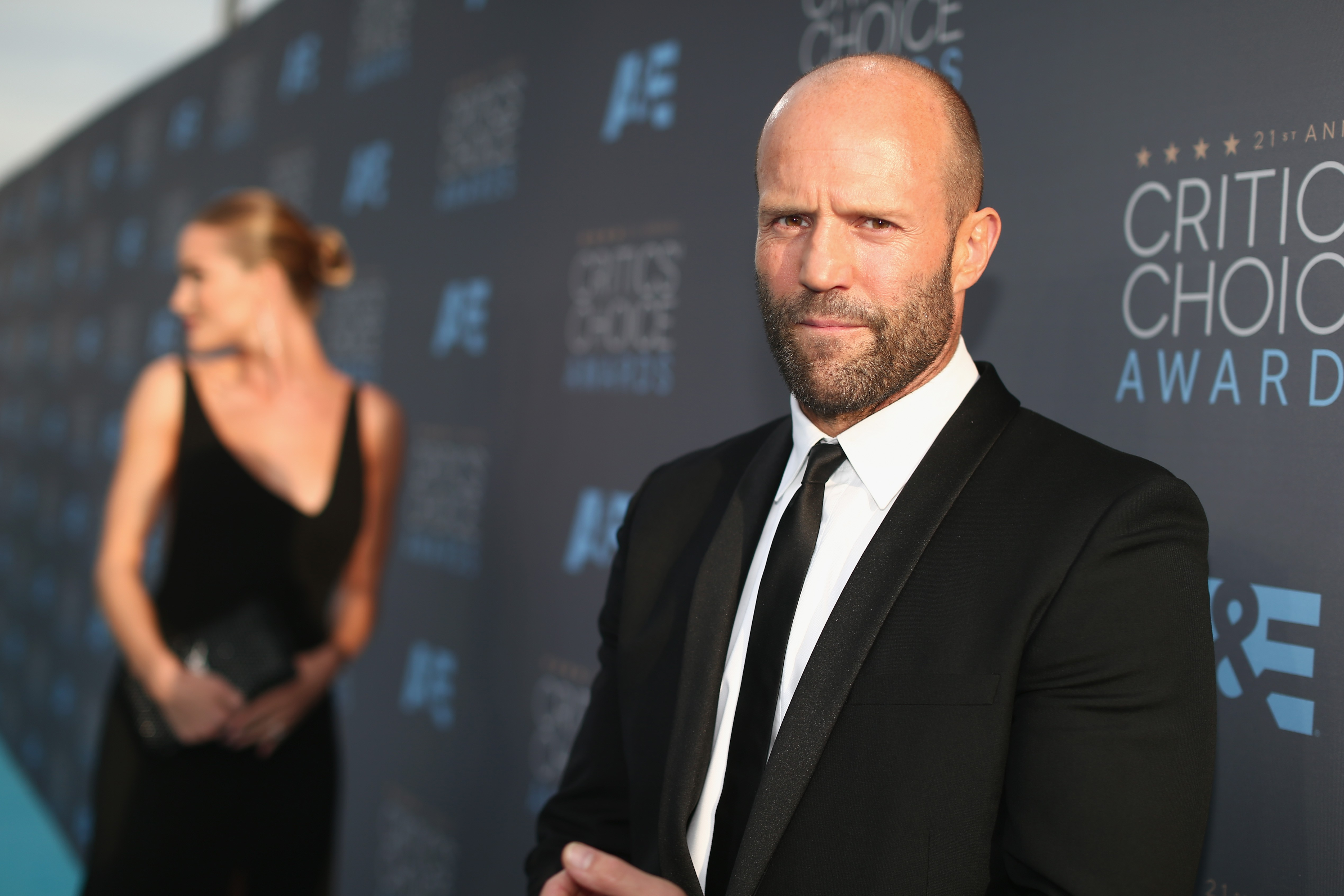 Jason Statham, o careca mais nervoso de Hollywood (Foto: Getty Images)