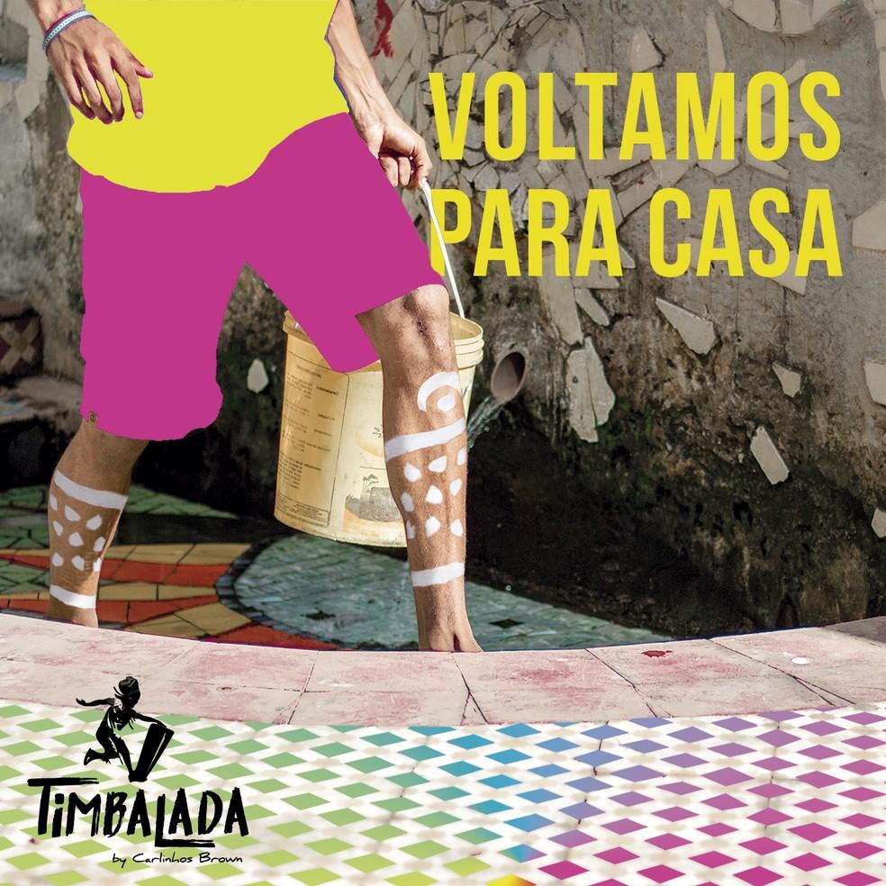 Capa do EP 'Voltamos para casa', da Timbalada — Foto: Divulgação / Candyall Music