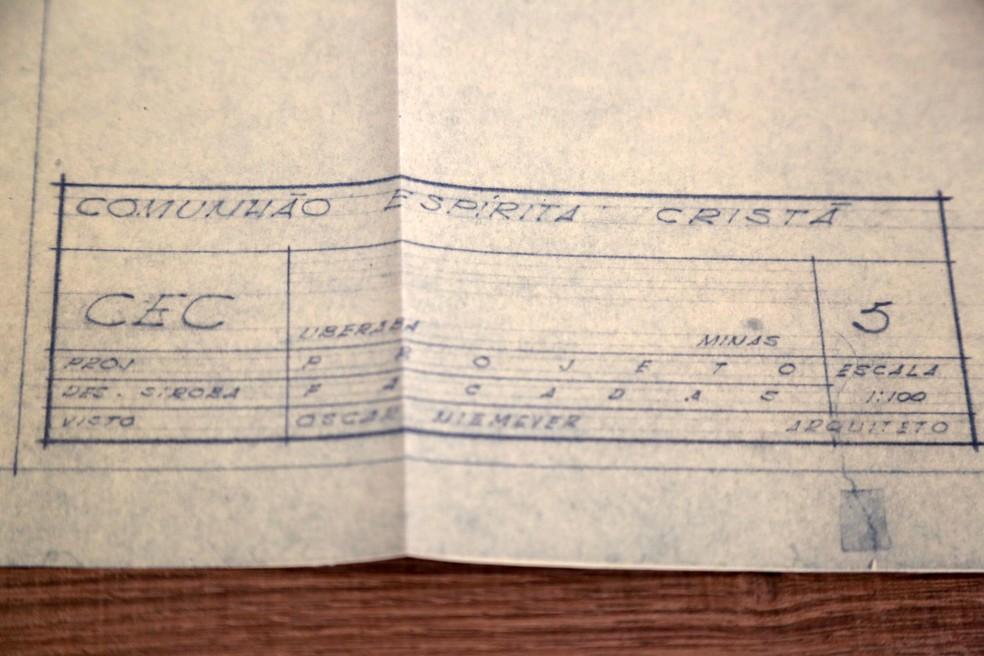 Planta foi assinada pelo arquiteto renomado Oscar Niemeyer. — Foto: Ruth Gobbo/Fundação Cultural de Uberaba